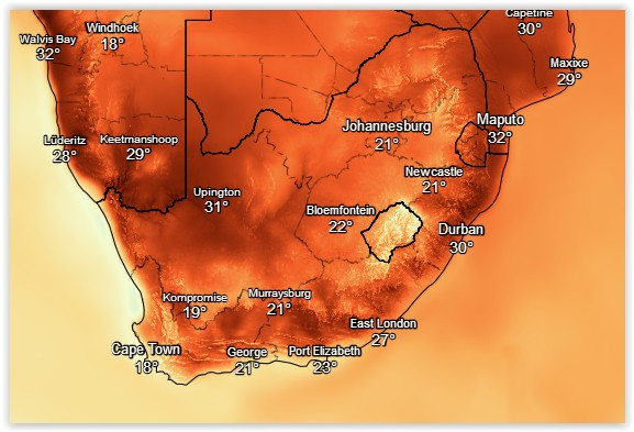 Hot and rainy weekend ahead for parts of SA