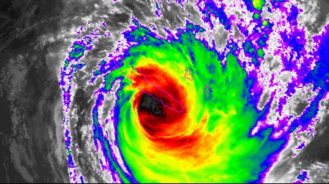 Tropical Cyclone Cook Makes Landfall in New Caledonia in the South Pacific